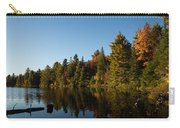 Autumn Lake In The Forest - Reflection Tranquility Carry-all Pouch
