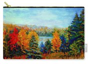Autumn Landscape Quebec Red Maples And Blue Spruce Trees Carry-all Pouch