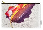 Autumn Leaf On Fire Carry-all Pouch