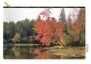 Autumn Leaning Tree Carry-all Pouch