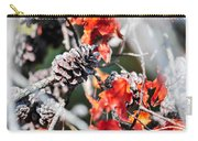Autumn Leaves And Pinecone Background Carry-all Pouch
