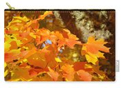 Autumn Leaves Art Print Yellow Orange Carry-all Pouch