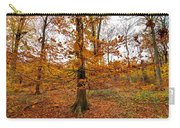 Autumn Leaves Common Wood  Carry-all Pouch