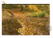 Autumn Leaves In Burn Vertical Carry-all Pouch