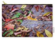 Autumn Leaves In Creek Bed Carry-all Pouch