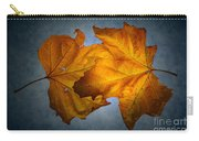 Autumn Leaves On Blue Carry-all Pouch