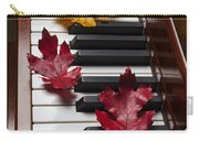 Autumn Leaves On Piano Carry-all Pouch