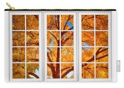 Autumn Maple Tree View Through A White Picture Window Frame Carry-all Pouch