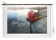 Autumn On Misty Lake Poster Carry-all Pouch