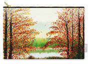 Autumn On The Ema River Estonia Carry-all Pouch