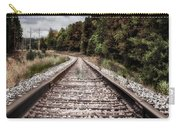 Autumn On The Railroad Tracks Carry-all Pouch