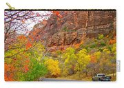 Autumn On Zion Canyon Scenic Drive In Zion National Park-utah  Carry-all Pouch