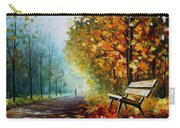 Autumn Park - Palette Knife Oil Painting On Canvas By Leonid Afremov Carry-all Pouch