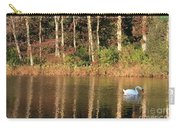 Autumn Pond Sunset With Swan Carry-all Pouch