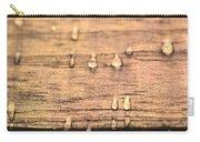 Autumn Rain On Wood Carry-all Pouch