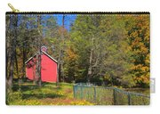 Autumn Red Barn Carry-all Pouch by Joann Vitali