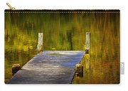 Autumn Reflections And Boat Dock On A Pond Near Yankee Springs Michigan Carry-all Pouch
