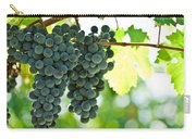 Autumn Ripe Red Wine Grapes Right Before Harvest Carry-all Pouch by Ulrich Schade