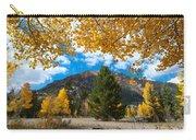 Autumn Scene Framed By Aspen Carry-all Pouch
