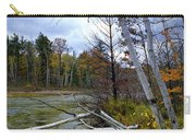 Autumn Scene Of Along The Shore Of The Platte River In Michigan Carry-all Pouch