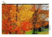 Autumn Trees By Barn Carry-all Pouch