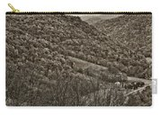 Autumn Valley Sepia Carry-all Pouch