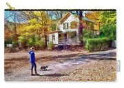 Autumn - Walking The Dog Carry-all Pouch