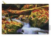 Autumn Waterfall Canvas Carry-all Pouch
