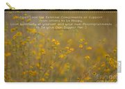 Autumn Wildflowers W Quote Carry-all Pouch