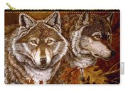 Autumn Wolves Carry-all Pouch