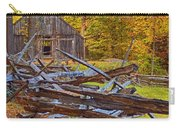 Autumn Wooden Fence Carry-all Pouch