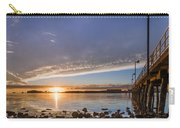 Autumnal Sunset At Del Norte Pier Carry-all Pouch