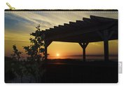 Avalon Beach Gazebo At Sunrise Carry-all Pouch by Bill Cannon