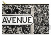 Avenue Sign Carry-all Pouch