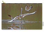 Avocets Chase Off The Egret Carry-all Pouch