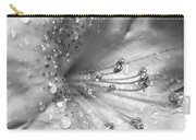Azalea Flower With Raindrops Monochrome Carry-all Pouch