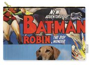 Azawakh Art - Batman Movie Poster Carry-all Pouch