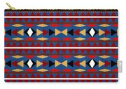 Aztec Blue Pattern Carry-all Pouch
