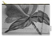 B W Wood Flower Carry-all Pouch