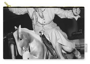 Babe Didrikson On Sidesaddle Carry-all Pouch
