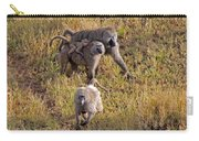 Baboon Family Carry-all Pouch