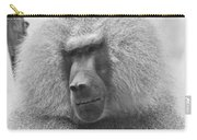 Baboon In Black And White Carry-all Pouch