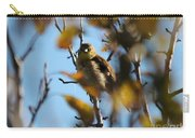 Baby American Goldfinch Learning To Fly Carry-all Pouch
