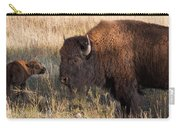Baby Bison Meets Daddy Carry-all Pouch