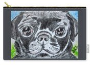Baby Black Pug Carry-all Pouch