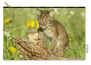 Baby Bobcat At Play Carry-all Pouch