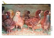 Baby Chicks Under Heat Lamp Art Prints Carry-all Pouch