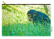 Baby Chimp In The Grass Carry-all Pouch