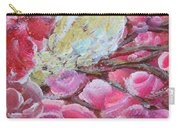 Baby Dove Of Peace Pink Flowers Carry-all Pouch