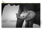 Baby Elephant Next To Cow  Carry-all Pouch